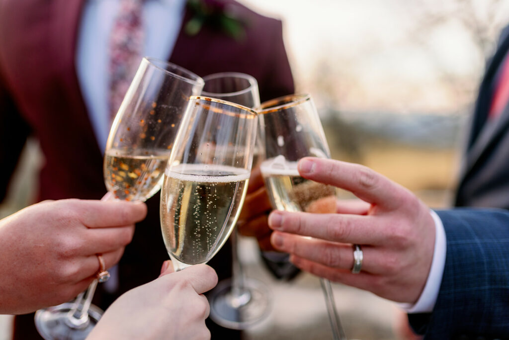 Champagne Toast at Elopement