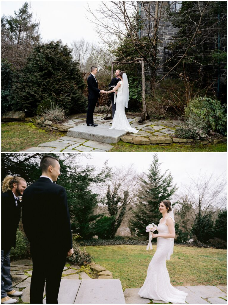 Winter elopement ceremony at Homewood in Asheville   Legacy & Legend All-Inclusive Elopement