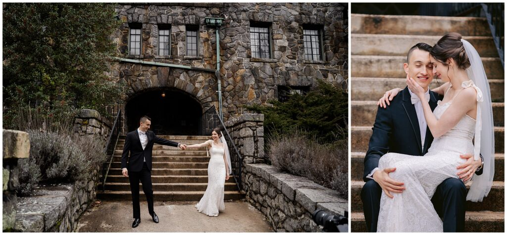 Asheville all-inclusive elopement bride and groom portraits at Homewood