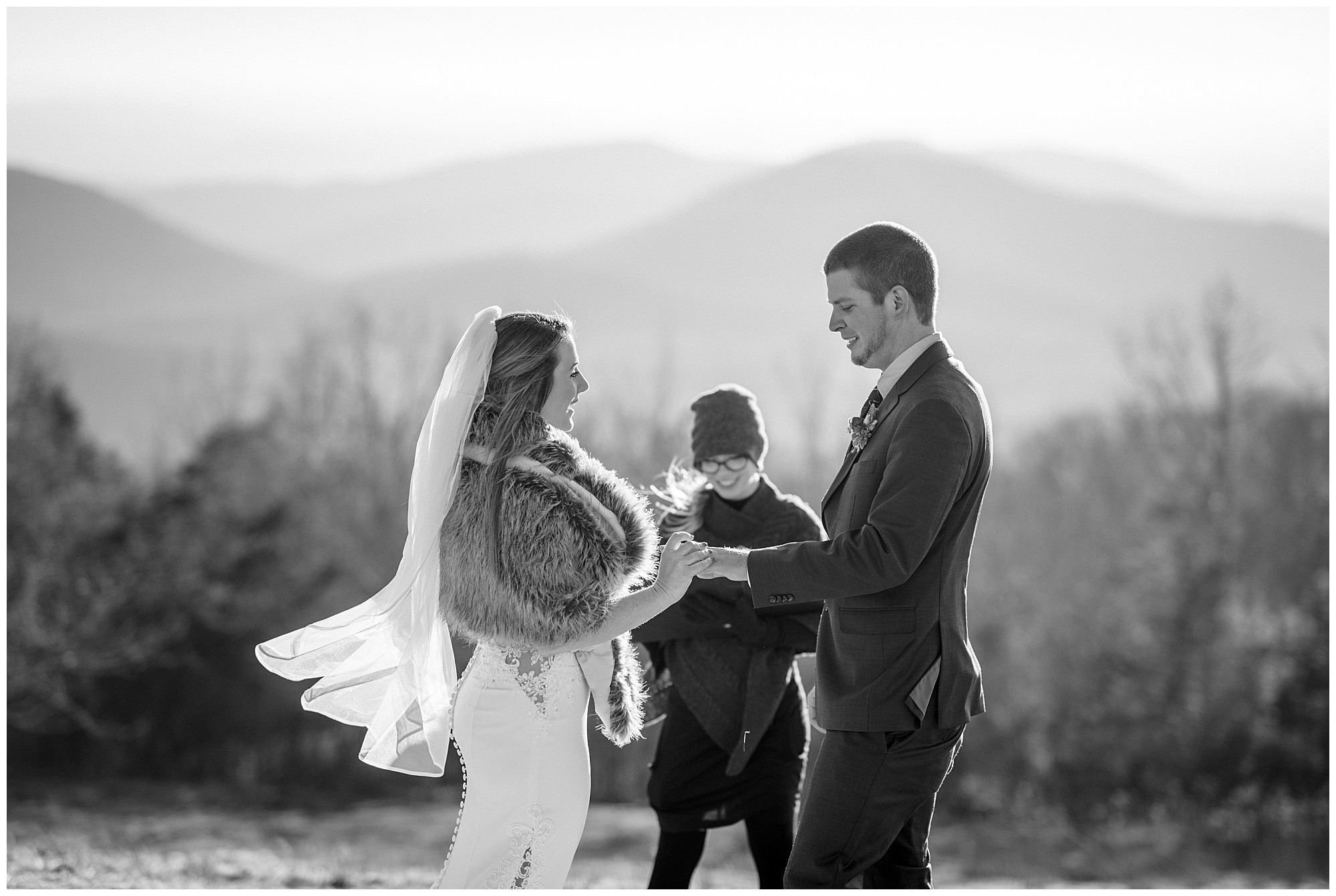 Winter elopement ceremony at Bearwallow Mountain in Asheville, NC | Legacy and Legend Full Service Elopements