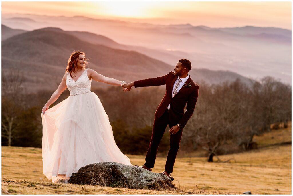 holding hands at bearwallow mountain