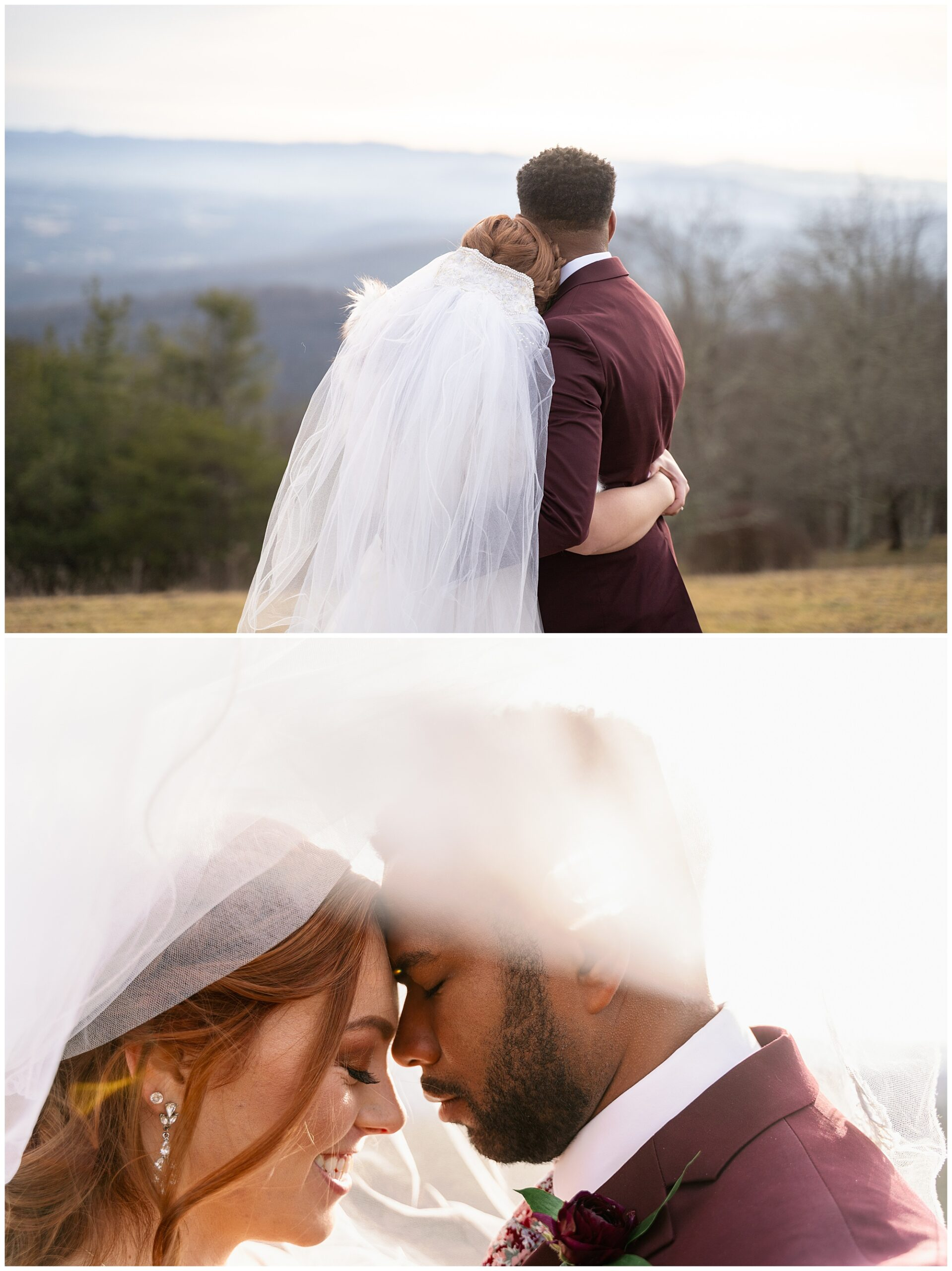 under the veil elopement photo