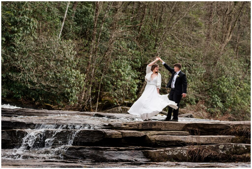 Waterfall Elopement in the Mountains of Asheville | Legacy and Legend All Inclusive Elopements