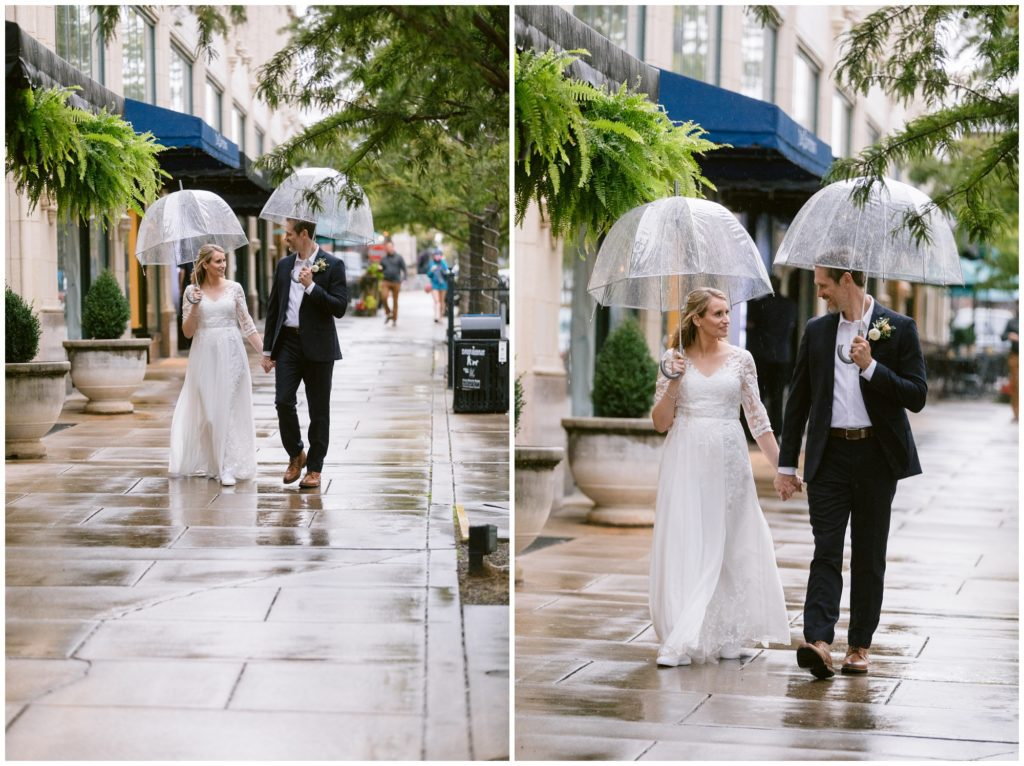 Rainy elopement portraits.