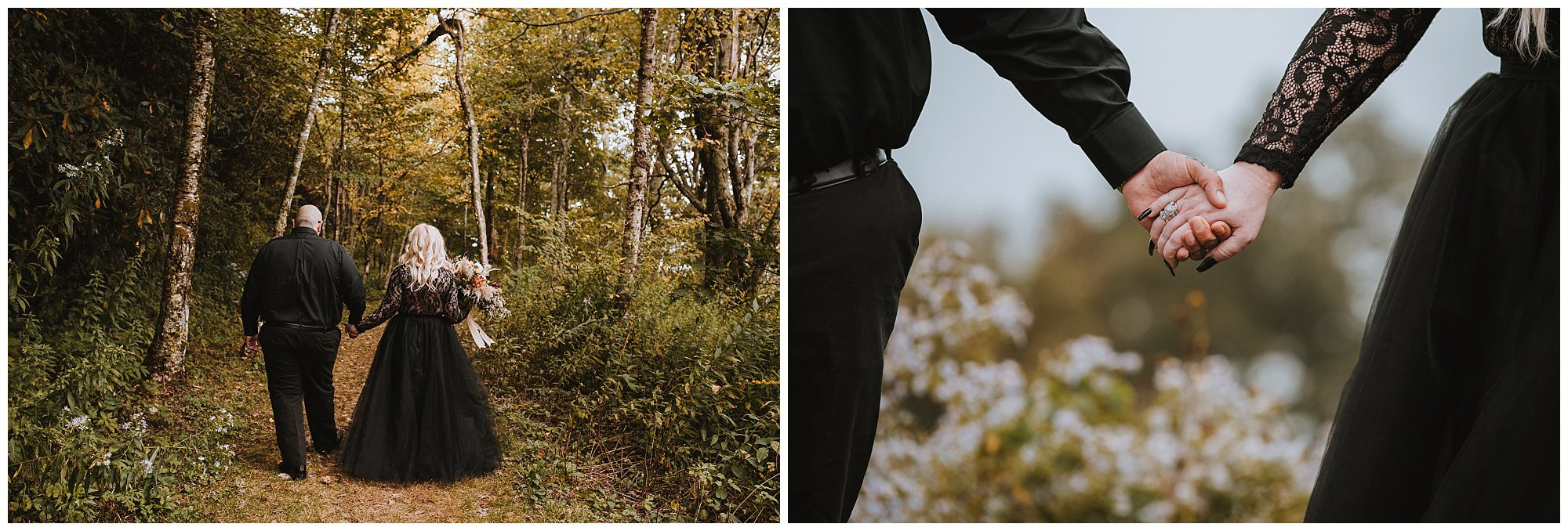 Foggy Fall Elopement in the NC Mountains