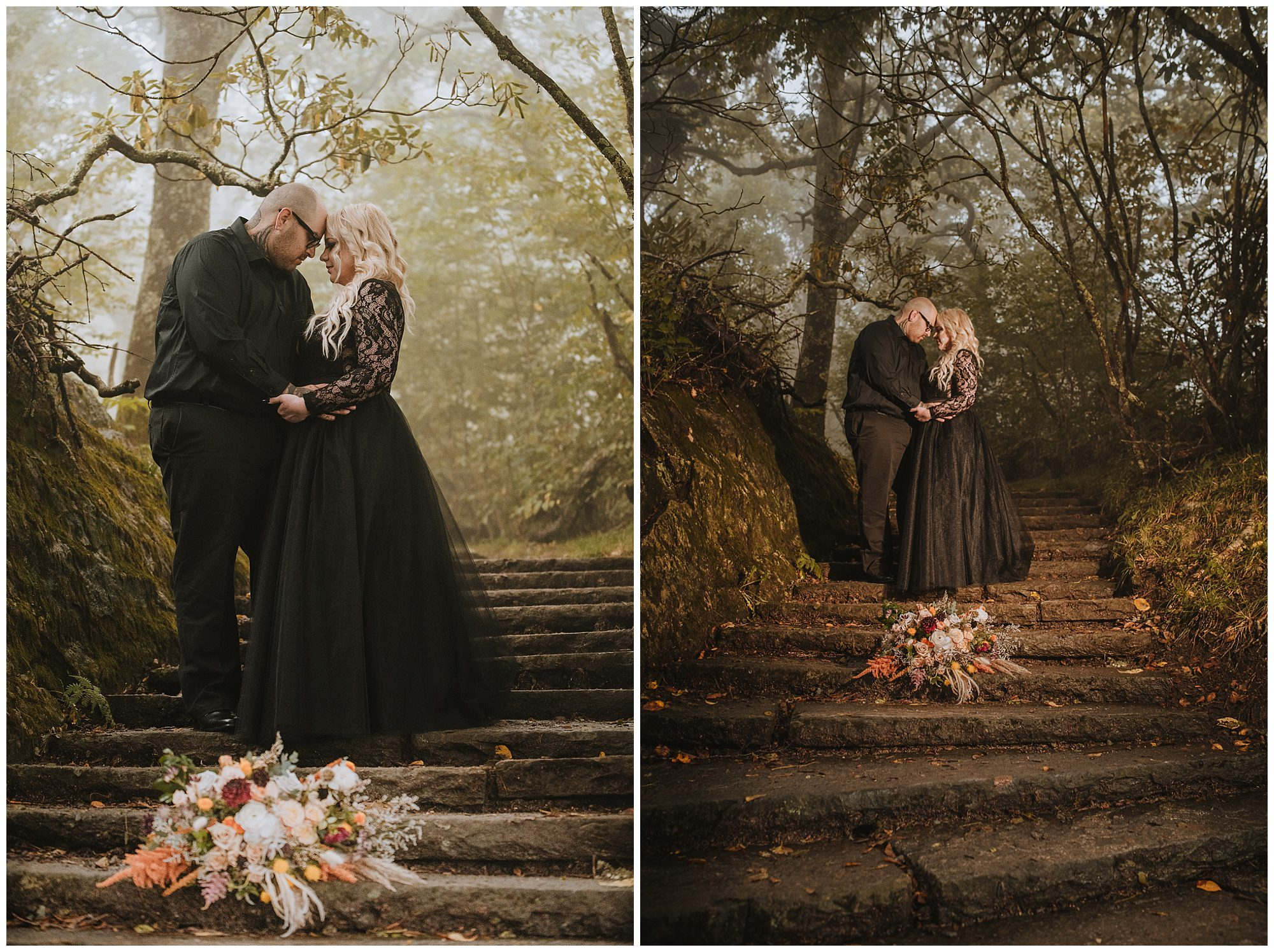 fall inspired couple portraits in Asheville